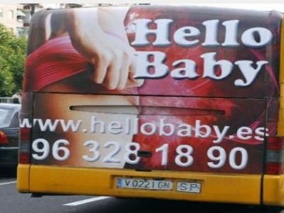 pubblicità hot sui bus in Spagna