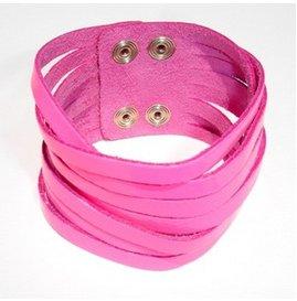 polsino-pelle-rosa-fluo-daffodil-bijoux