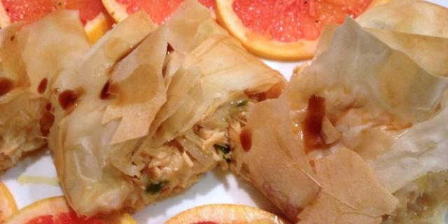 Finger food di salmone e pasta fillo…in 10 minuti