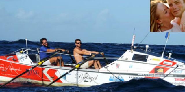 Atttraversa l'Oceano Atlantico a remi per beneficenza e per amore