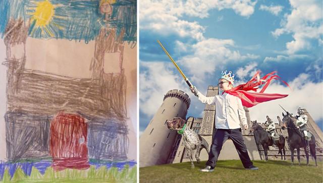Le fotografie dell'artista che realizza i sogni dei bambini malati [FOTO]