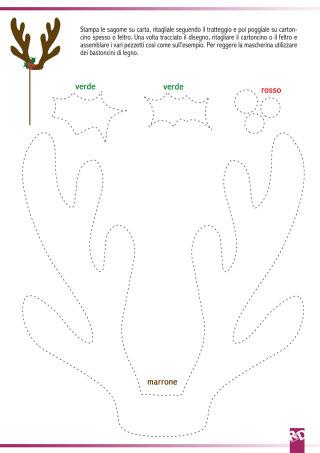 Mascherine di Natale: scarica GRATIS il cartamodello!