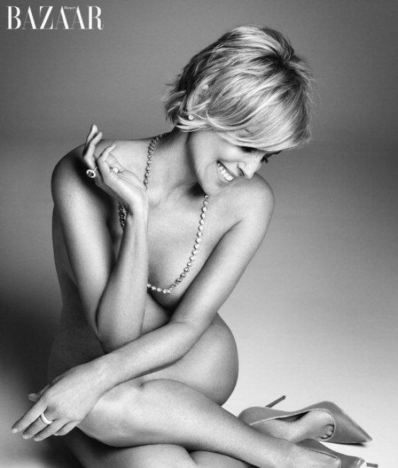 Sharon Stone: a 57 anni posa nuda per Harper's Bazaar