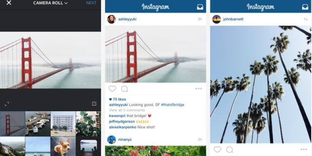 Formato rettangolare Instagram