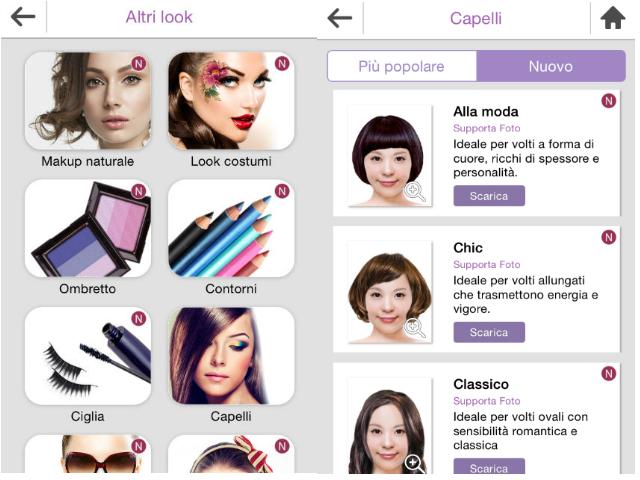 YouCam Makeup: i tagli di capelli