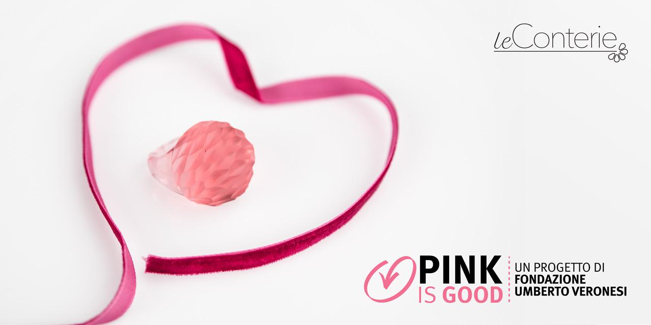 Le conterie, un anello in vetro di Murano contro il tumore al seno