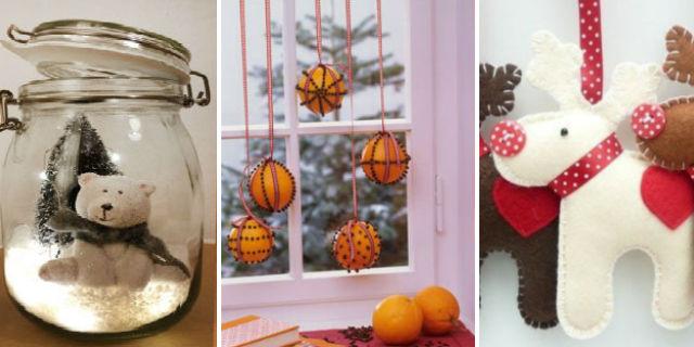 7 idee per addobbi e decorazioni natalizie fai da te for Luci per decorare la stanza