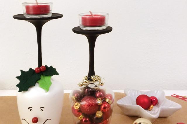 7 idee fai da te per decorare la tavola di natale roba da donne - Portacandele natalizi fai da te ...