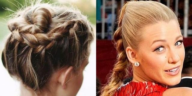 capelli raccolti con treccia