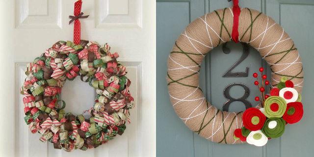 Ghirlande natalizie fai da te 4 proposte roba da donne - Ghirlande per porte natalizie ...