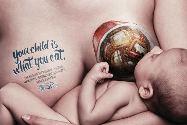 Campagna Shock Brasiliana sull'Allattamento: Tuo Figlio è ciò che Mangi