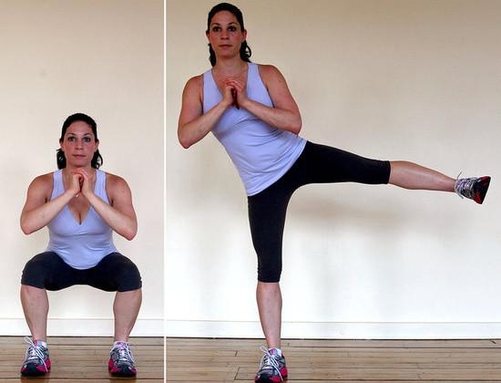 Squat con sollevamento laterale della gamba