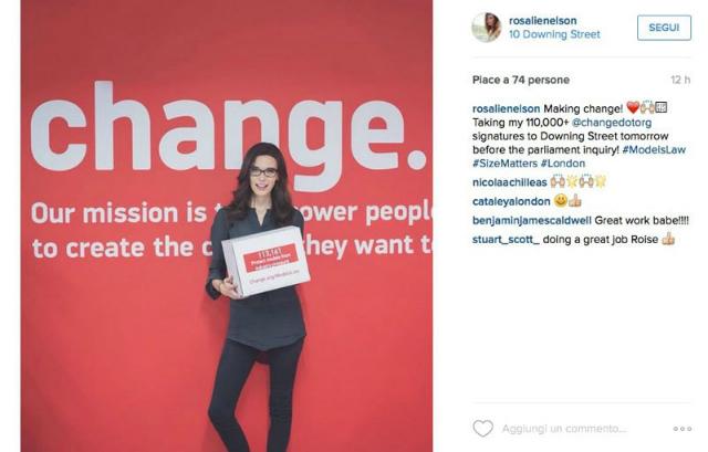 rosie nelson petizione modelle