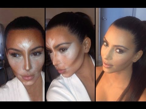 Contouring Kim Kardashian