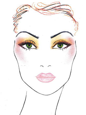make up-rossa